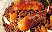 saucisse lentille au barbecue